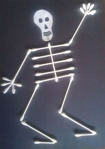17 best ideas about skeleton craft on pinterest With q tip skeleton craft template