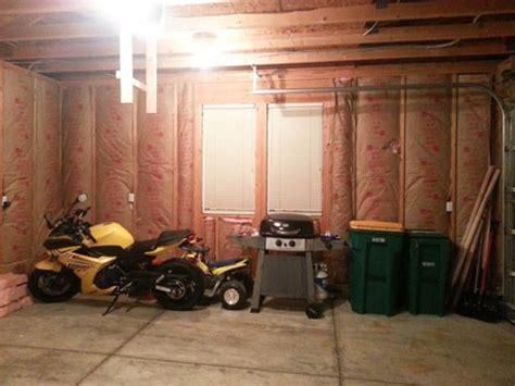 finishing  garage part  insulating  drywalling