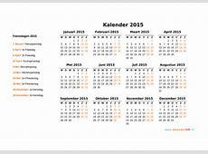 Kalender 2015 Jaarkalender en Maandkalender 2015 met
