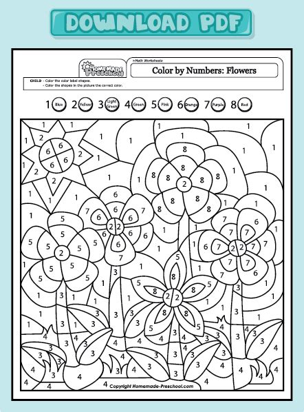 addition 187 color by number addition worksheets free math