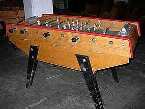 vintage french baby foot golfazur foosball table item