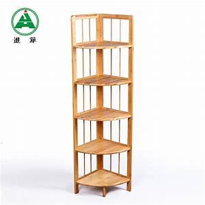Etagere En Angle : etagere d angle en bois ~ Teatrodelosmanantiales.com Idées de Décoration