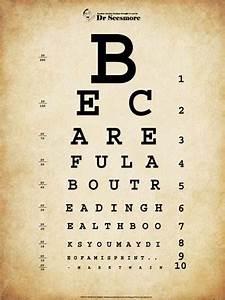 Mark Twain Eye Chart Fine Art Print By Unknown At
