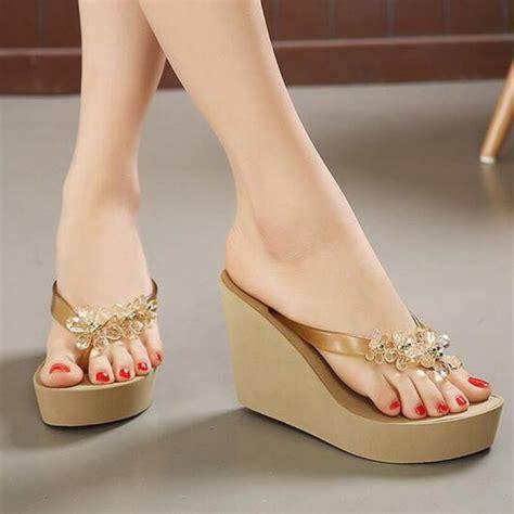 platform heel slippers heels zone