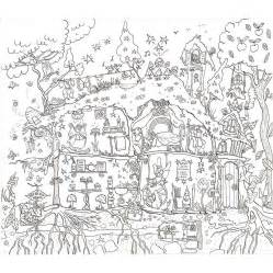 house colouring in poster by really posters