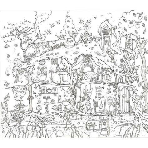 fairy house colouring  poster   giant posters