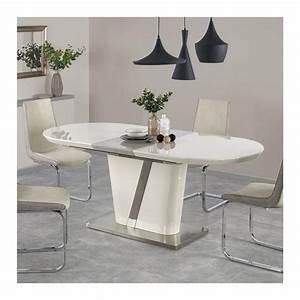 Table Ovale Design : table de salle manger 160 200 x 90cm ovale laqu e ~ Teatrodelosmanantiales.com Idées de Décoration