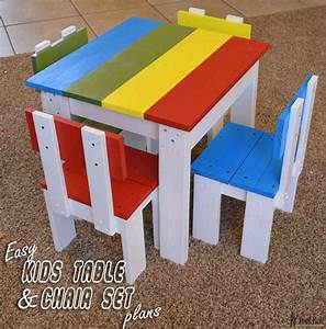 Simple Kid's Table and Chair Set - Her Tool Belt