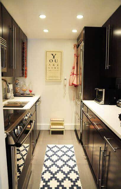 long narrow kitchen layout suggestions