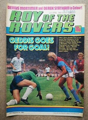Roy Of The Rovers Football Magazine Player Picture Aston ...