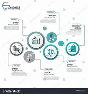 Modern Infographic Design Layout 6 Round Stock Vector ...