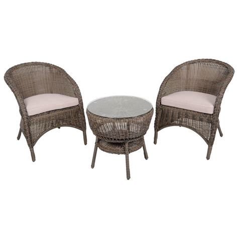 marseille wicker rattan coffee table 2 chairs garden