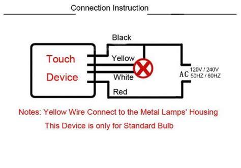 iimash ac220v 1 way on desk light parts touch sensor l switch for bulbs black