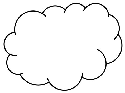 Cloud Template With Lines by Cloud Line Drawing Cliparts Co