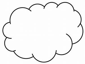 cloud line drawing clipartsco With cloud template with lines