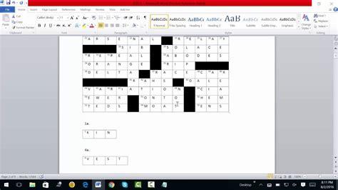 Free Crossword Puzzle No 1