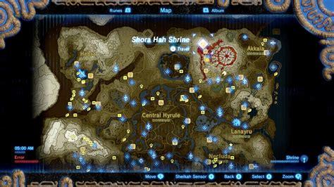 zelda breath   wild guide shora hah shrine location
