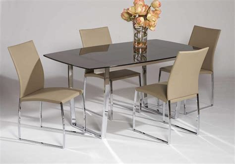 Sleek Tempered Black Or Gold Glass Table Top With Chrome