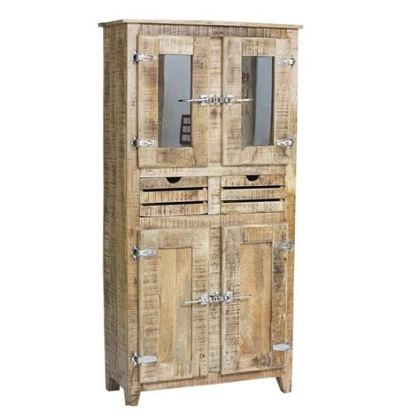 armoire chambre bois armoire 2 portes frigo bois naturel achat vente armoire