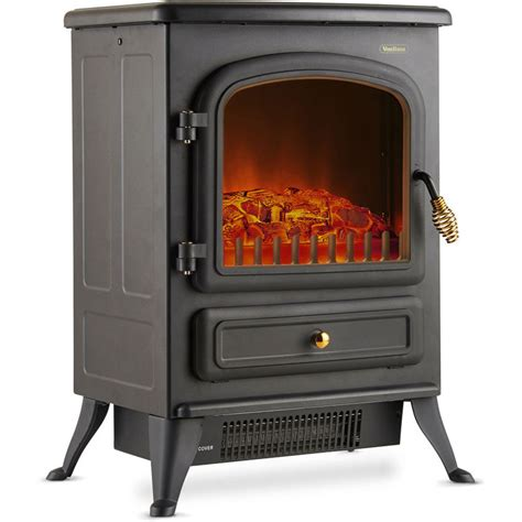 vonhaus electric stove heater  log burner flame effect