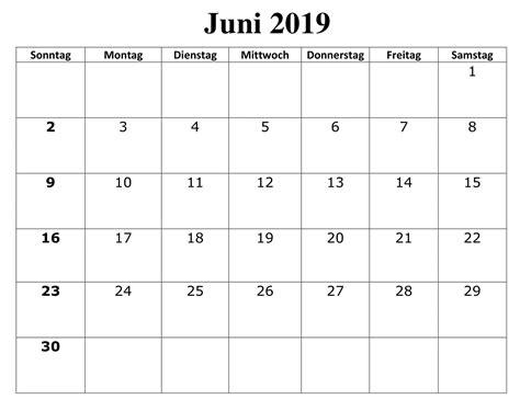 juni kalender kostenlos