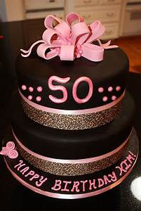 Purple Happy Birthday Sign 50th Pink Black And Leopard Birthday Cake Made This