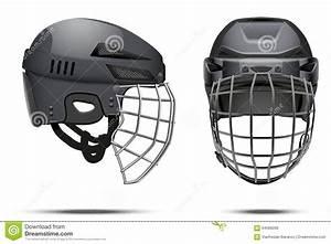 Classic Goalkeeper Hockey Helmet Stock Illustration ...