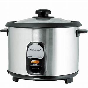 Brentwood 8 Cup Rice Cooker  Non-stick With Steamer - Appliances