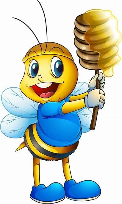Bee Bumble Cartoon Bees Clipart Honey Clip