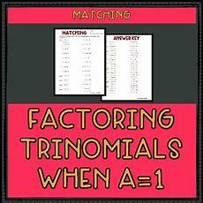 Factoring Trinomials When A = 1 Worksheet By Mr Greenlaw Math Tpt