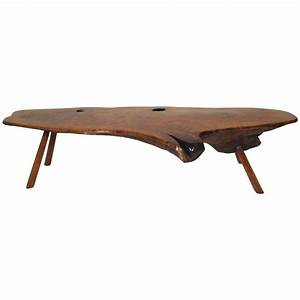 Mid century modern live edge coffee table for sale at 1stdibs for Live edge coffee table for sale