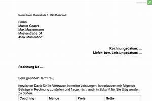 Wie Muss Eine Rechnung Aussehen : musterrechnung coaching zum kostenlosen download everbill magazin ~ Themetempest.com Abrechnung