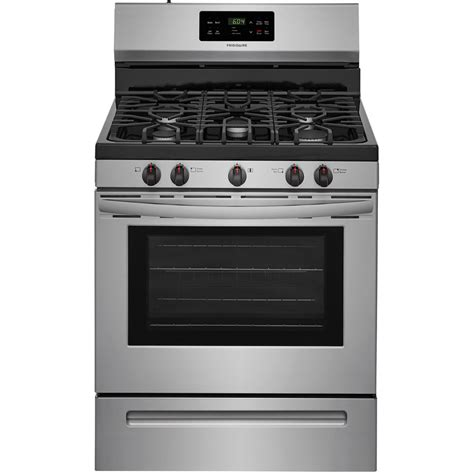 oven gas shop frigidaire 5 burner freestanding 5 cu ft self cleaning gas range easycare stainless steel
