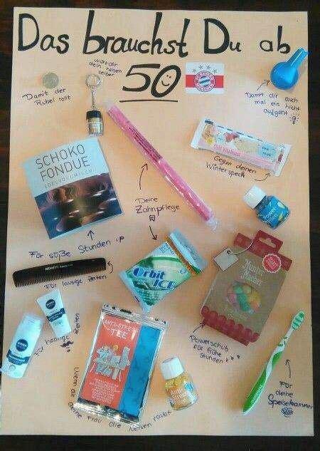 geschenk 50 geburtstag frau das 252 berlebenspaket f 252 r den mann ab 50 geschenke 50