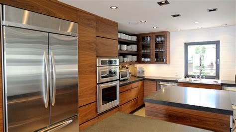 Interior Design Ideas For Small Kitchen - modern kitchen in walnut mdf ateliers jacob calgary
