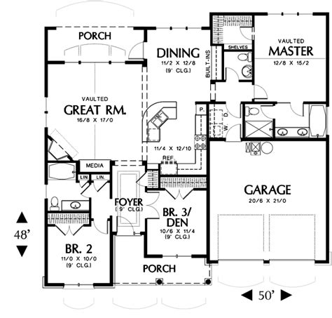 home plan com hollis 2432 3 bedrooms and 2 baths the house designers