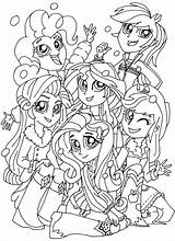 Pony Coloring Equestria Rainbooms Pages Sheets Printable sketch template