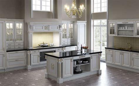 designer white kitchens pictures kullanışlı ve ihtişamlı klasik mutfak dolabı modelleri 6653
