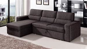 Fold out bedgiantex fold down chair flip out lounger for Sectional sofa with fold out bed