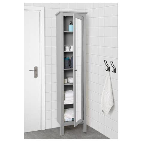 Ikea Mirror Cabinet Bathroom by Ikea Hemnes High Cabinet With Mirror Door Gray