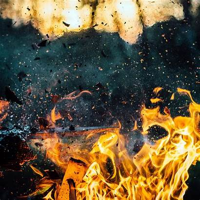 Fire Explosion Wood Wallpapers Bokeh Ipad Papers