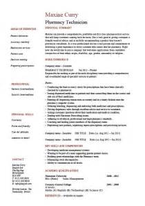 Free Pharmacy Tech Resume Templates by Pharmacy Technician Resume Medicine Sle Exle Health Customers Prescriptions