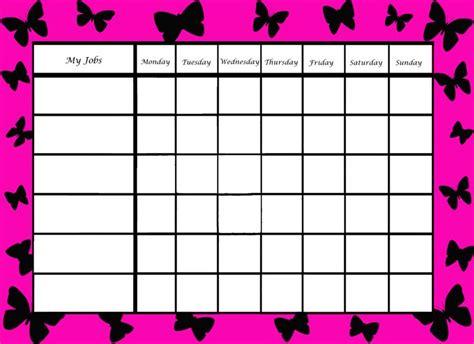 girls chore chart  printable chore charts