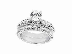 250ct round cut diamond engagement ring wedding band set for 18k gold wedding ring set