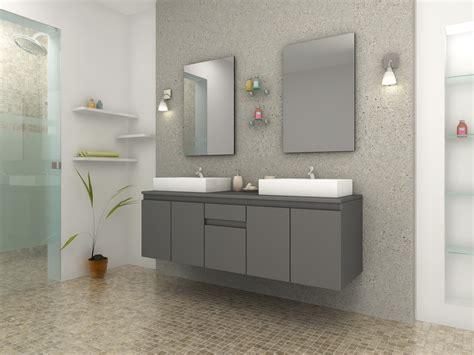 chaise salle de bain meuble de salle de bain vasque carré gris mat