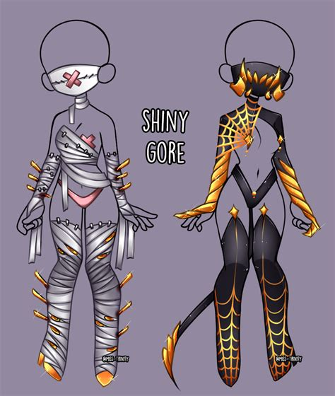 But the very best advice i can give is to draw the clothes as they live. Shiny Gore outfit adopt close by Miss-Trinity on ...