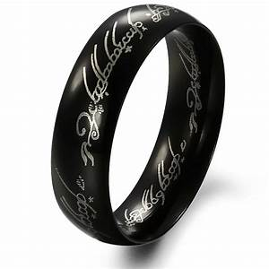 fashion jewelry men filled lord of the rings black With mens lord of the rings wedding bands