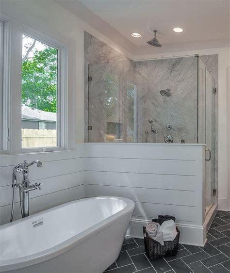 image result  shiplap wall freestanding tub master
