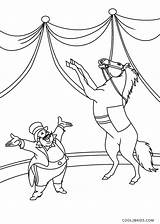 Circus Coloring Pages Horse sketch template