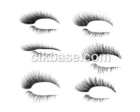 eyelash template 6 free delicate eyelashes brushes abr file format vector templates banner illustration free